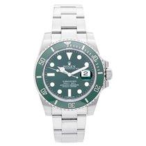 Rolex Submariner Men's Stainless Steel Green Dial Watch...