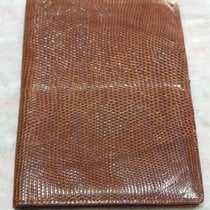 Longines rare vintage maxi light brown leather wallet