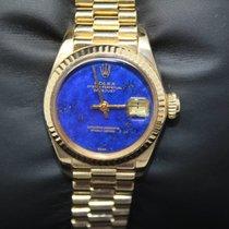 Rolex Lady Datejust 6917 President Lapis Lazuli 18k 750 Gold