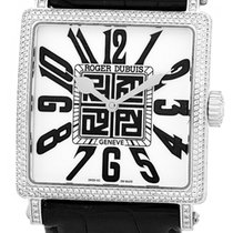 """Roger Dubuis """"Golden Square"""" Diamond Strapwatch."""