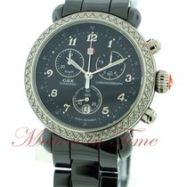 Michele CSX-36, Black Dial, Diamond Bezel - Black Ceramic on...