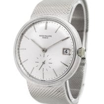 Patek Philippe 18K White Gold Calatrava Automatic 3445G with...