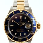 Rolex Oyster Submariner Gold Steel Blue Dial