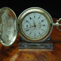 Louis Perret 800 Silber Savonette Osmanische Taschenuhr...