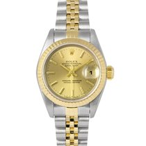 Rolex Datejust Ladies Steel & Gold Champagne Dial 69173,...