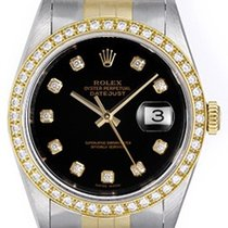 Rolex Men's Diamond Rolex Datejust 2-Tone Steel & Gold...