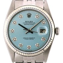 Rolex Datejust Men's 36mm Iced Blue Dial Stainless Steel...