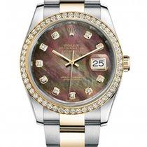 Rolex New Style Datejust Two Tone Custom Diamond Bezel &...