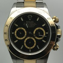 Rolex DAYTONA ZENITH STEEL/GOLD A SERIAL BLACK DIAL LIKE NEW