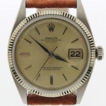 Rolex datejust REF. 1601 white gold and steel 36 MM plexy 1960