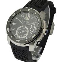 Cartier W7100056 Calibre De Cartier Diver in Steel - On Black...