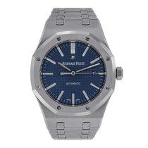 Audemars Piguet AP Royal Oak 41 Stainless Steel Blue Dial Watch