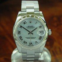 Rolex Datejust Medium Edelstahl Automatic Damenuhr Diamant...