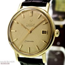 Omega Vintage Seamaster Man Size Automatic 18k Yellow Gold...