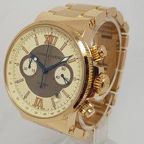 Ulysse Nardin Marine Chronograph Solid 18K Yellow Gold Watch