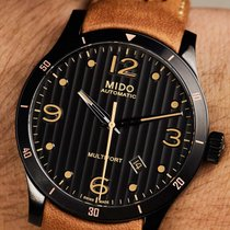 Mido Multifort Gent Brown Strap Data Grey Dial  M0254073606110