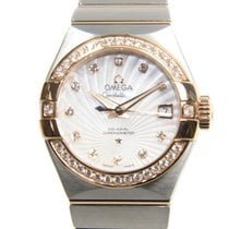 Omega Constellation 18k Rose Gold And Steel White Automatic...