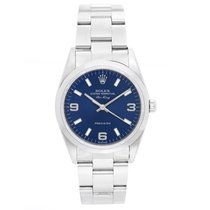 Rolex Air-King Men's Stainless Steel Watch Blue Dial 14000