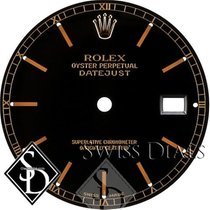 Rolex Datejust Black Stick Marker Swiss Made Dial Two-tone