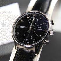 萬國 (IWC) IW371447 Portuguisher Chronograph Black dial