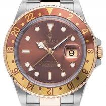 Rolex GMT Master II Tigerauge Stahl Gelbgold Automatik Armband...