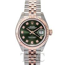 ロレックス (Rolex) Lady Datejust 28 Olive Green 18k Everose...