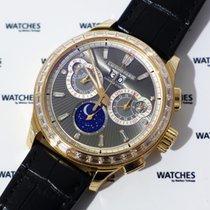 Chopard L.U.C Perpetual Chrono Rose Gold Baguette Diamonds -...