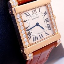 Cartier Ladies Tank Chinoise 18k Rose Gold With Factory...