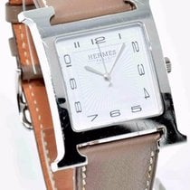 Hermès H-Hour GM Size - Etoupe Smooth Leather Strap / 30.5mm...