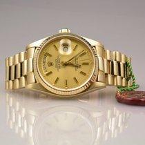 Rolex Day-Date 18038 in 18k Gelbgold langes Band - Rolex Box
