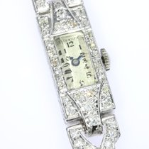 Platinum Art Deco diamond cocktail ladies wrist watch Wrist watch