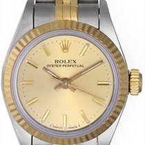 Rolex Ladies Oyster Perpetual 2-Tone Watch 67913