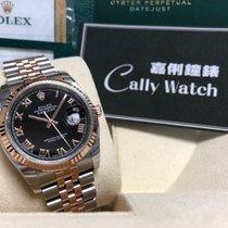 Rolex Cally - 36MM 116231 Datejust Rose gold & Steel Black...