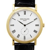 Patek Philippe New  Calatrava Gold White Manual Wind 5119J-001