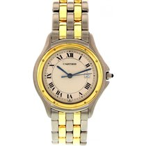 Cartier Midsize Cartier Cougar 18K Yellow Gold / SS 187904