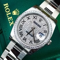 Rolex Datejust 116200 with custom diamond bezel & face