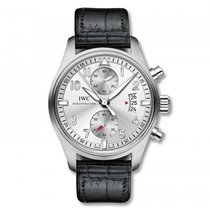 IWC Pilots Watch Chronograph JU-Air Silver  Dial Automatic...