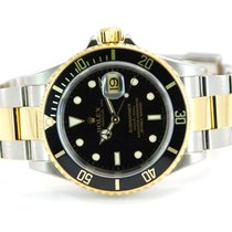 Rolex Submariner Date Two Tone 18kt YG/SS Black Dial - 16613T