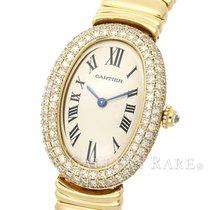Cartier Baignoire SM Diamond Bezel Ivory Dial Yellow Gold 20.79mm