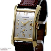Longines Vintage Rectangular 18k Yellow Gold Bj-1953
