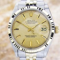 Rolex Oyster Datejust 1601 Mens Rare Swiss 18K Gold and...