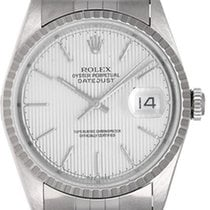 Rolex Men's Datejust Stainless Steel Watch Silver Tapestry...