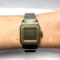 Cartier Santos 2 Tone 18k Yellow Gold & Stainless Steel...