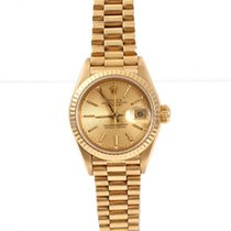 Rolex Ladies 18k Gold President - Champange Tapestry Dial - 69178