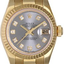 Rolex Ladies President 18K Gold Watch 179178 Gray Dial