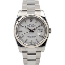 Rolex DATEJUST 36mm Steel & White Gold White Dial