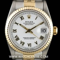Rolex Steel & Gold White Roman Dial Datejust Mid-Size...