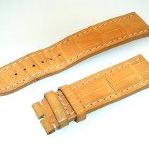 Breitling Tradema Band 22mm Croco Gelb Yellow Strap Für...