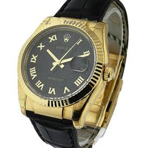 Rolex Unworn 116138_blk_roman_jub Yellow Gold Mens Datejust...