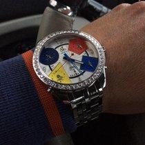 Jacob & Co. JC1 diamond Five time zone 47mm with Jco bracelet